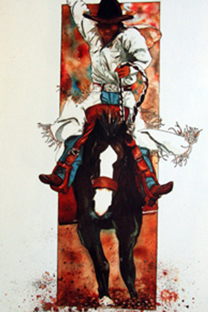 Saddle Bronc limited edition print