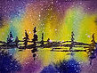 Northern Lights watercolor by Colette Pitcher