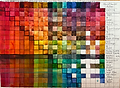 watercolor color chart by Colette Pitcher