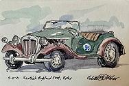 1952 MGTD sketch by Colette Pitcher
