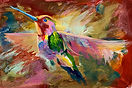 Hummingbird acrylic by Colette Pitcher