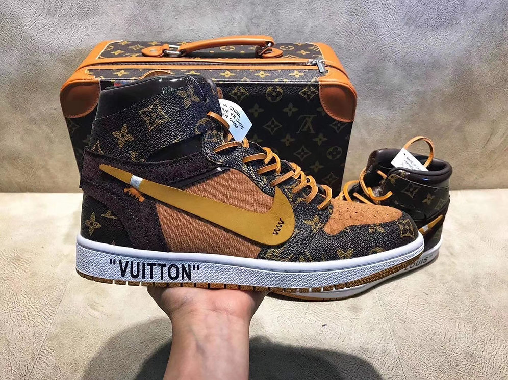 online store eb901 989b7 Nike X Off - white x Louis Vuitton Air Jordan 1 Adult and Big Kid |  gogettazfootwork