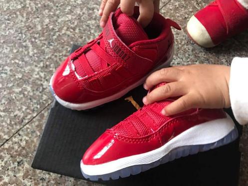 online store d0a31 8806b Air Jordan 11 Retro GS 'Win Like '96' Toddler Sneakers In Red