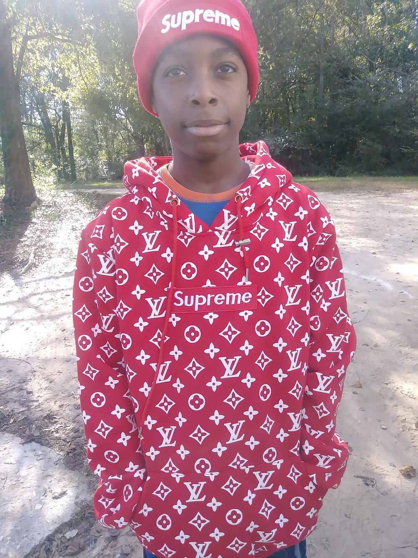 Supreme Louis Vuitton Hoodie Red Box Logo