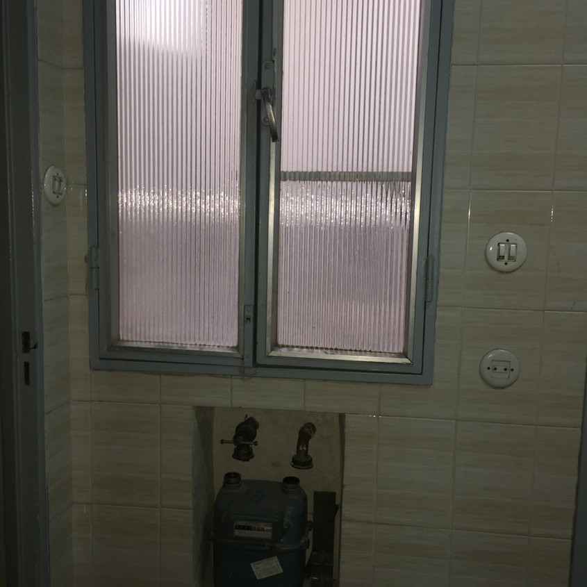 Old tiles and fixtures