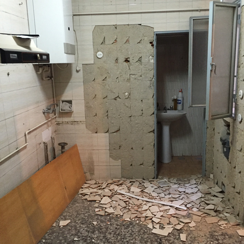 Kitchen demolished