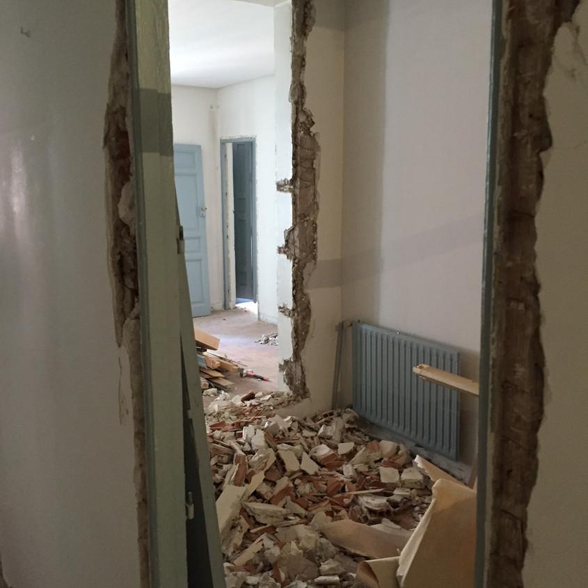 Interior  bedroom demolished