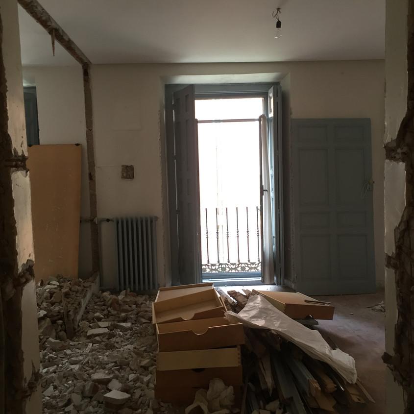 Interior walls down