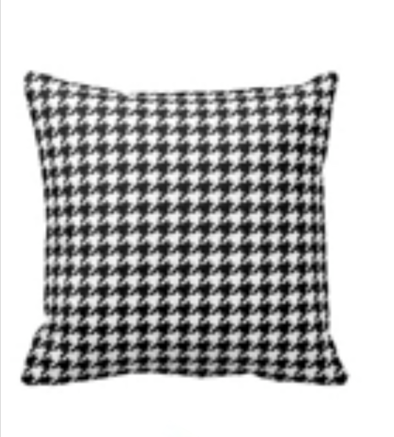 Houndstooth cushions