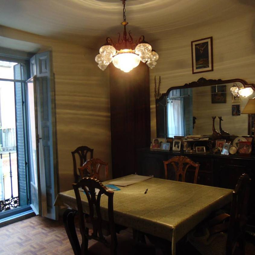 Small dark living room