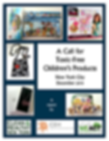 A Call for Toxic-Free Children's Products: New York City Report  Cover with images of tested products