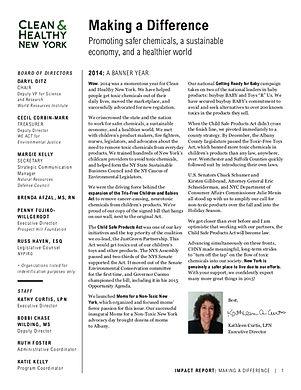 CHNY 2014 Annual Report