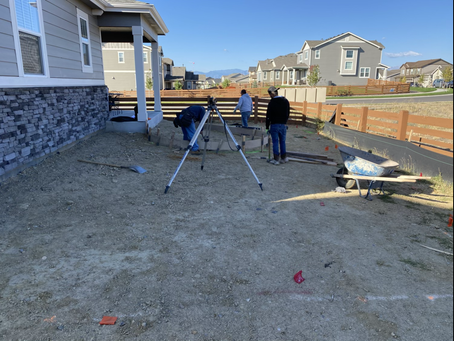 Today starts a new job! Breaking ground on a back yard in Erie 👌🏼 Stamped Concrete to start.