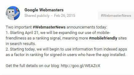 Google's Mobile Update: What to Expect on April 21st