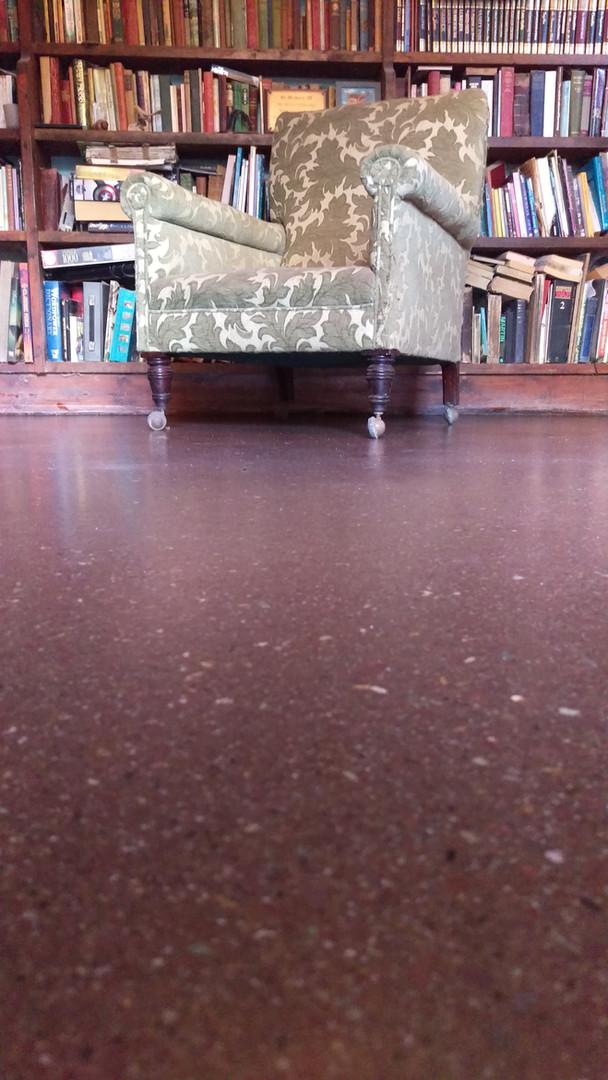 Natural West Cork sandstone, seamless resin floor