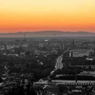 Sonnenuntergang Turmberg, Karlsruhe