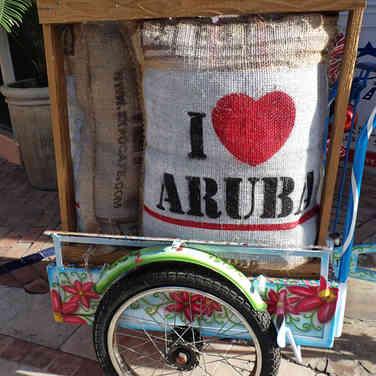 Werbung, Insel Aruba, Karibik