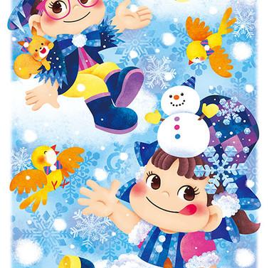 17年 ペコちゃん&ポコちゃんカレンダー 1月