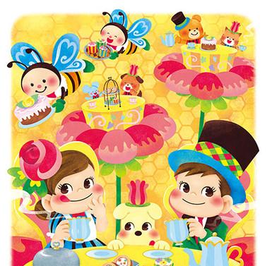 17年 ペコちゃん&ポコちゃんカレンダー 3月