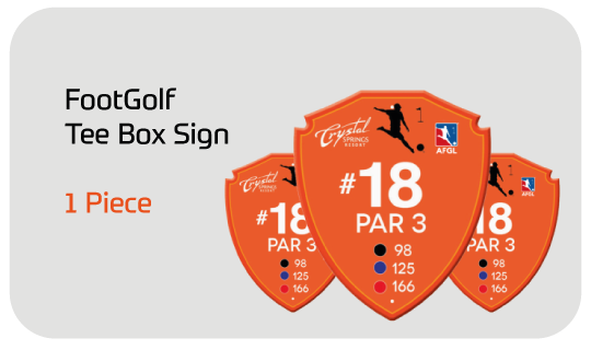 FootGolf Budget Tee Box Sign