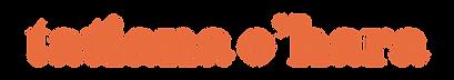 Tatiana O'Hara Logo Variation (tangerine