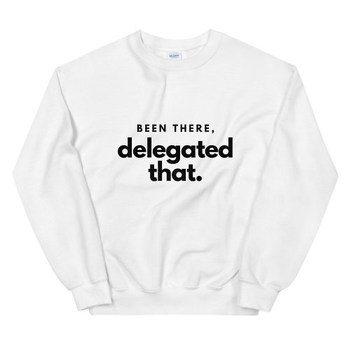 Unisex Sweatshirt White or Gray