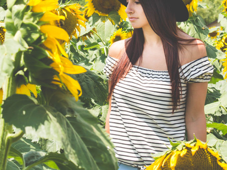 Sunflower Fields Forever! - Impromptu Portrait Session at Mt. Olympus Berry Farm