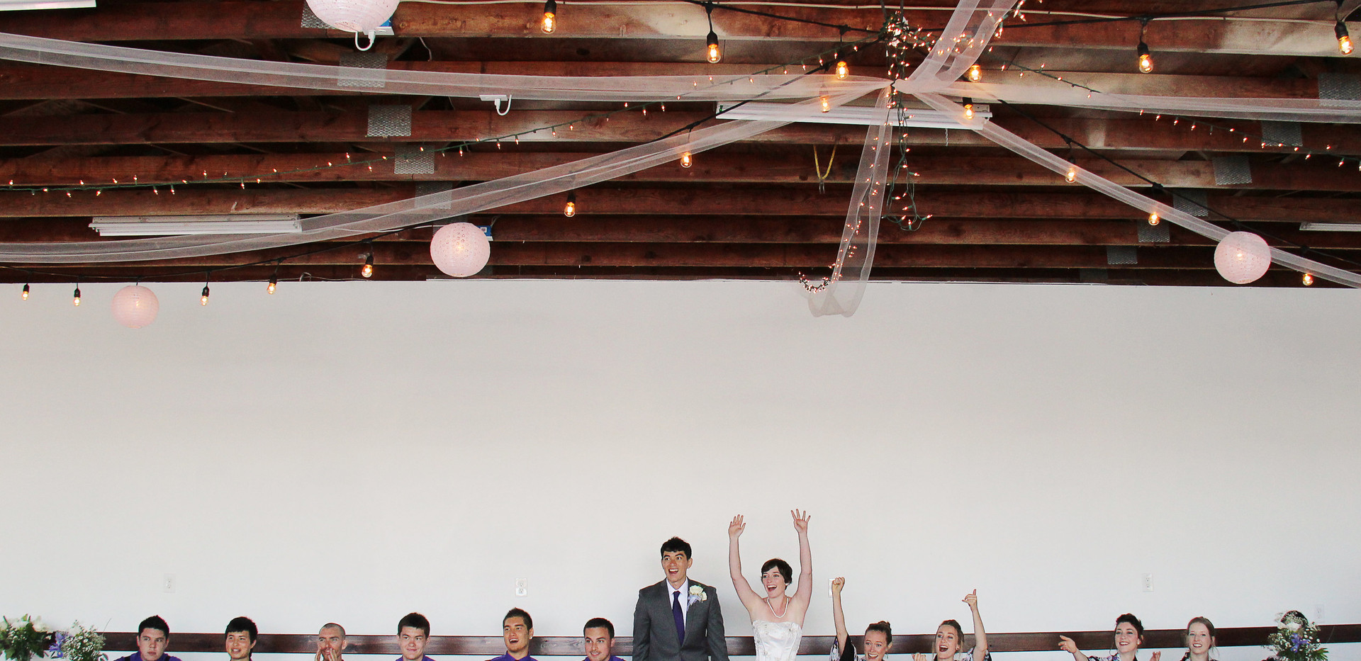 Have your reception in a Seaplane Hangar overlooking the Lake!