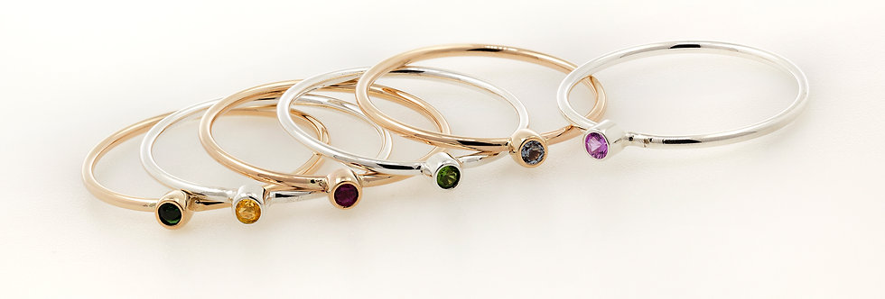 Gold Filled Birthstone Rings