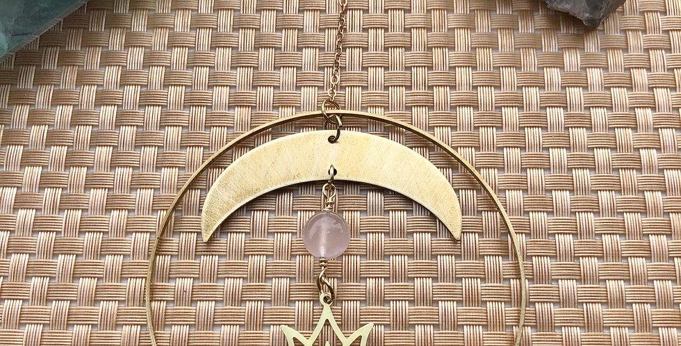 Moon and Lotus Wall Hanging