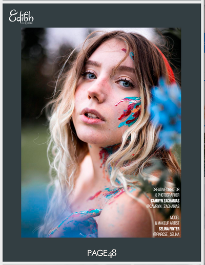 You Paint Me Blue - Edith October 2020 Issue