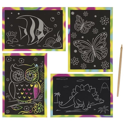 Lavagna gratta e colora - vari soggetti