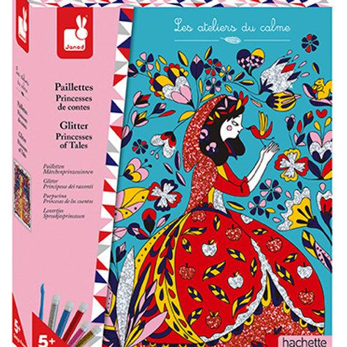 Colora coi glitter - principesse delle fiabe