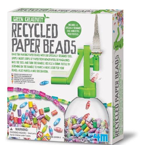 Perline di carta riciclata
