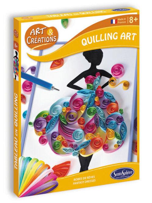 Quilling art - abiti fantasia