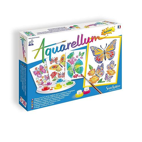 Aquarellum - farfalle e fiori