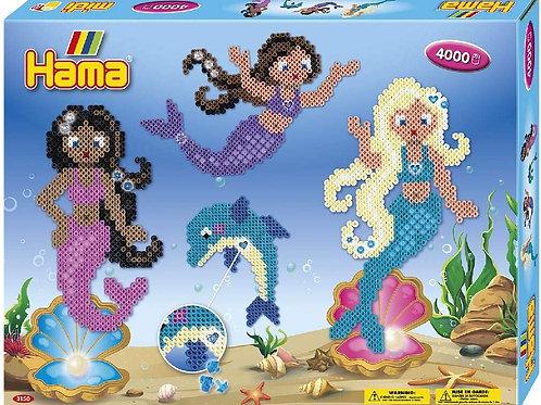 Hama midi - scatola 4000 perle Sirene
