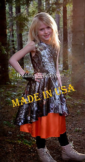 Mossy Oak Breakup Camo flowergirl dress