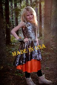 Camo Flowergirl dress