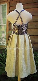 Mossy Oak breakup Camo bridesmaid dress