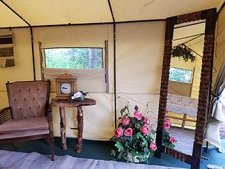 Brides dressing tent