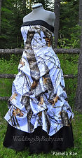 Mossy Oak Winter Camo Wedding dress