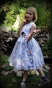 camo & lace flower girl dress