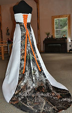 Mossy Oak Breakup camo wedding dress