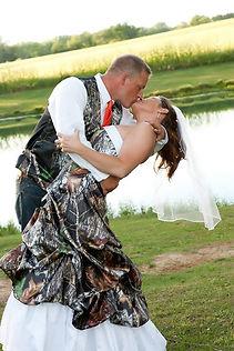 Camo Wedding dress and vests