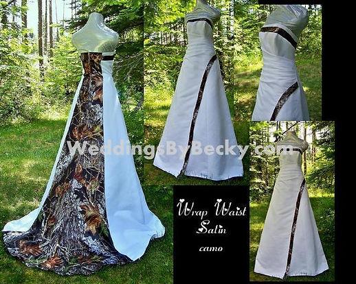 Mossy Oak breakup camo wedding dress
