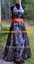 Mossy Oak Breakup Camo Bridesmaid dress