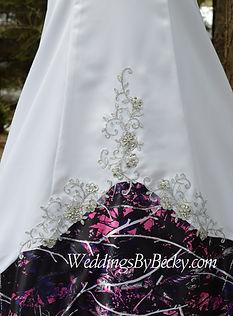 Camo wedding dress with beading