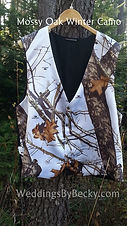Mossy Oak Winter man's wedding vest