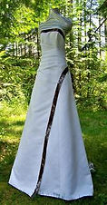Wrap Waist Camo Wedding dress